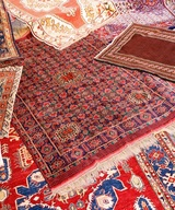 beautiful collection of valuable and colorful carpets of Afghan origin