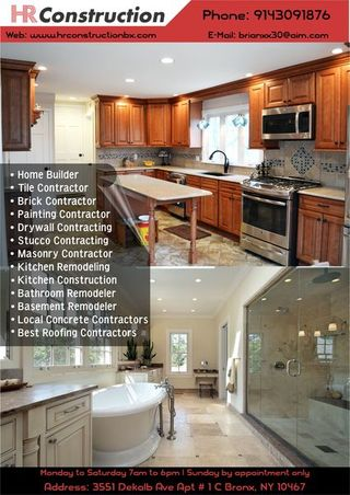 HR Construction   Residential Concrete Contractors in Bronx