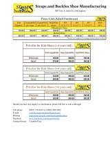 Pricelists of Straps and Buckles Shoe Manufacturing