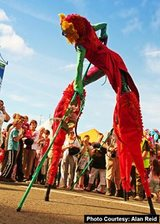 More of our latest entertainment includes The Dragons. Colourful and bright stilt walkers, who will surely bring an exciting element to any event! Wedding entertainment idea, party entertainment or corporate events, think bigger with these impressive acts, Contraband International, London