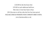 Pricelists of Barratts Classic Car Hire