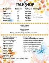 Pricelists of CREATIVE WRITING WORKSHOP