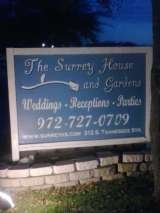 The Display Sign of The Surrey House in Mckinney, Texas Weddings with Class 4050 Fair Park Blvd