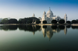 Victoria Memorial, Kolkata , India - reflection on water. A Historical Monument of Indian Architecture. It was built between 1906 and 1921 to commemorate Queen Victoria's 25 years reign in India.