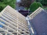 Traditional pitched roof with land valley