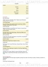 Pricelists of Tandoori Knights Indian Restaurant Shirley
