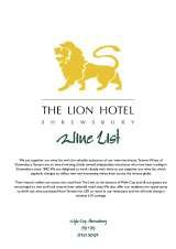Pricelists of The Lion Hotel