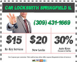 Pricelists of Car Locksmith SpringField IL