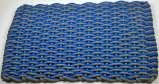 #148 Texas rope doormat Bright blue & Gray wave with gray insert