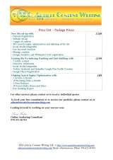 Pricelists of SEO Article Content Writing