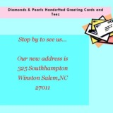 Diamonds & Pearls Handcrafted Greeting Cards and Teez
