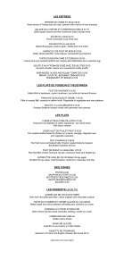 Pricelists of La Place Restaurant with Froggies Bar