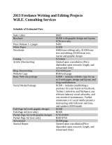 Pricelists of W.R.E. Consulting Services