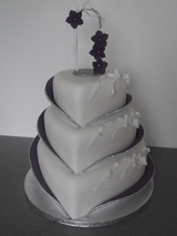 purple enchantment wedding cake