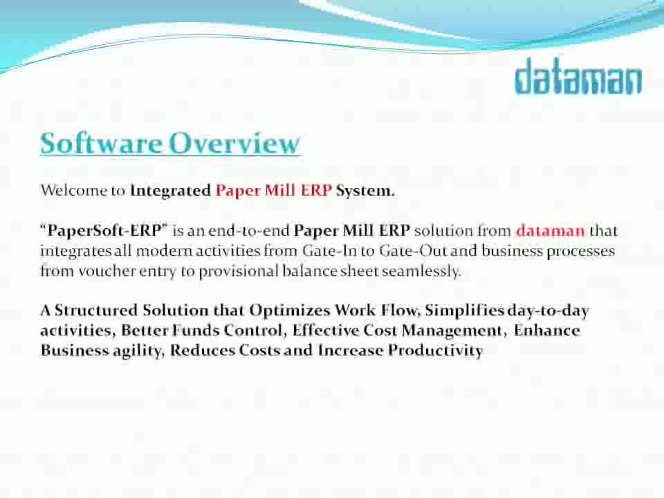 Paper Mill Software