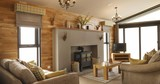 Living space in the holiday lodges