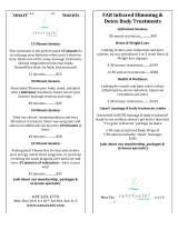 Menus & Prices, sanctuate!, San Diego