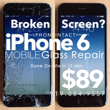 Broken Glass iPhone 6 Screen Repairs for $89. MOBILE Service Brings the Repair to YOUR Raleigh Location!