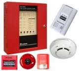 Building Fire Alarm Siren, Detector and manual button systems.