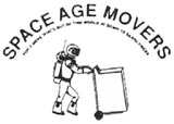 This is the image description, Space Age Movers, Boise