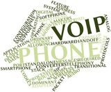 16413806 - abstract word cloud for voip phone with related tags and terms