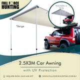 Keep yourself protected from the sun as you venture out to the great outdoors with one of our car awnings. It comes in gray and beige for $134.90.