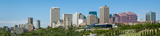 View of Edmonton skyline in summer across the river valley. Vanguard Cleaning Systems of Edmonton 4710 99 St NW