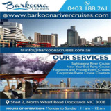 Charter River Cruise Services in Docklands | Barkoona Cruises