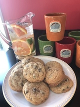 Warm, fresh baked cookies served every afternoon.