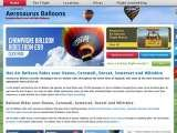 Web design, marketing and hosting services for Aerosaurus Balloons