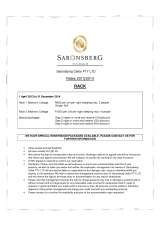 Pricelists of Saronsberg Vineyard Cottages