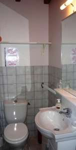 En-suite shower room with toilet.