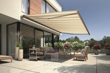 Patio Awnings offer garden shade.