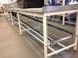 Production line benches with return conveyor to underside Storage Design Limited Primrose Hill