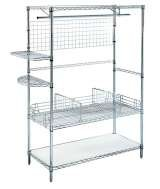 Chrome wire shelving with lots of options Storage Design Limited Primrose Hill