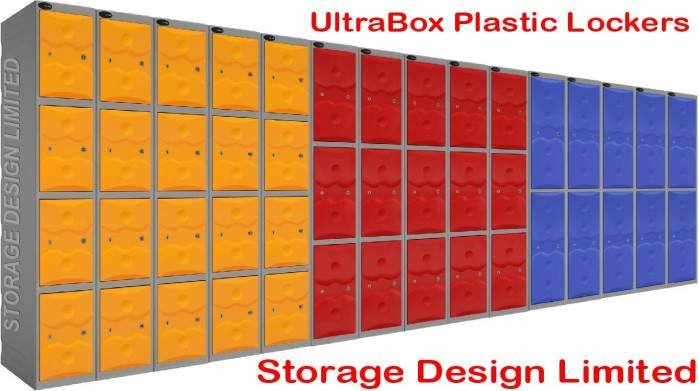 plastic lockers in 4 tier, 3 tier and 2 tier Ultrabox of Storage Design Limited Primrose Hill - Photo 17 of 18