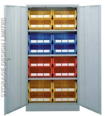 Colour linbins in large cupboard LINBINS of Storage Design Limited Primrose Hill - Photo 50 of 54