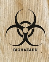 biohazard tag with fabric texture background MJN Associates LLC 4449 Country View Drive