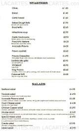 Pricelists of Da Pietro Italian Restaurant