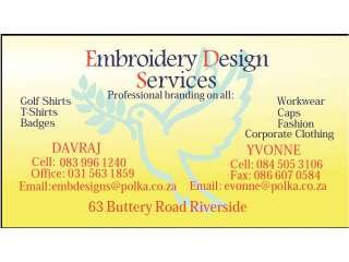 EMBROIDERY DESIGNS SERVICES