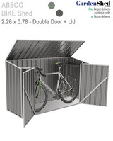 Absco Bike Shed 2.26m(W) x 0.78m(D) x 1.31m(H)