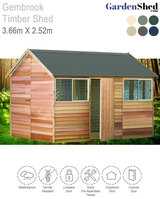Gembrook Timber Shed 3.6m X 2.5 Cedar Shed