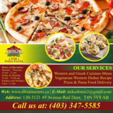 Pizza and Pasta Delivery Near me Red Deer | Dino's 2 for 1 Pizza