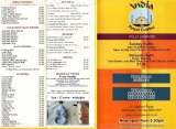 Pricelists of India Restaurant