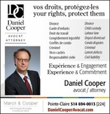 Daniel Cooper Avocat Lawyer, Pointe Claire