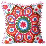 Goood Times Cotton Embroidered Decorative Pillowcase Throw Pillow Cushion Cover Square 16