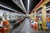 Over 140,000 sq.ft of chairs, stools, and tables