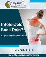 Acupuncture Treatment for Back pain in Chennai
