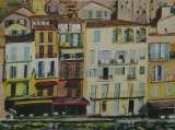 Villefranche Encore, acryilic on canvas, 30