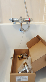Upgrade Plumbing Installation of new Mira Bath Mixer Tap in Chudleigh Exeter change taps